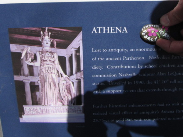athena sign stone